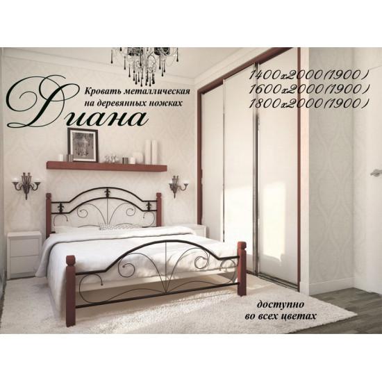 Кровать МД Диана (дерево) 80*190