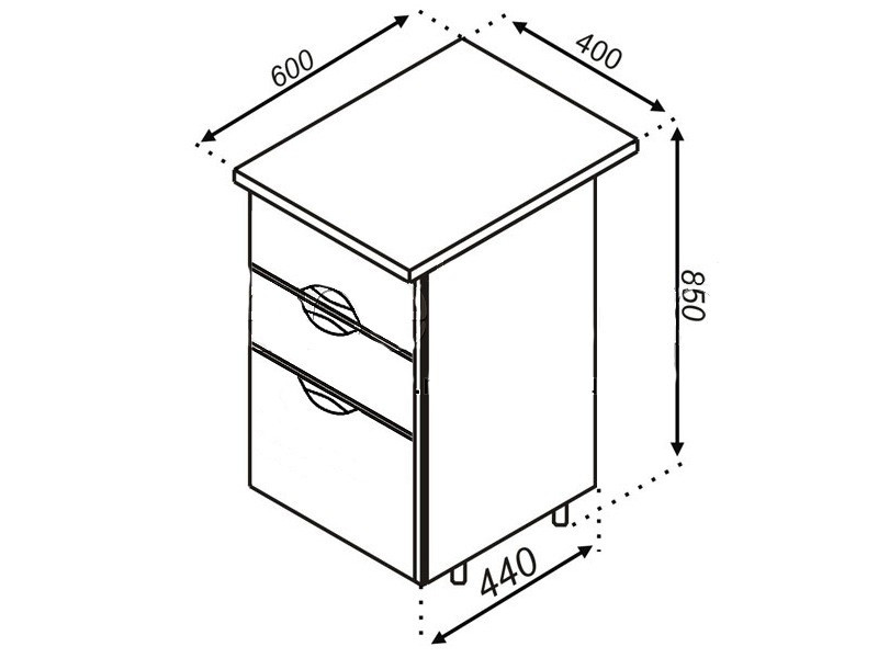 Кухонная секция Адель Н 40Ш