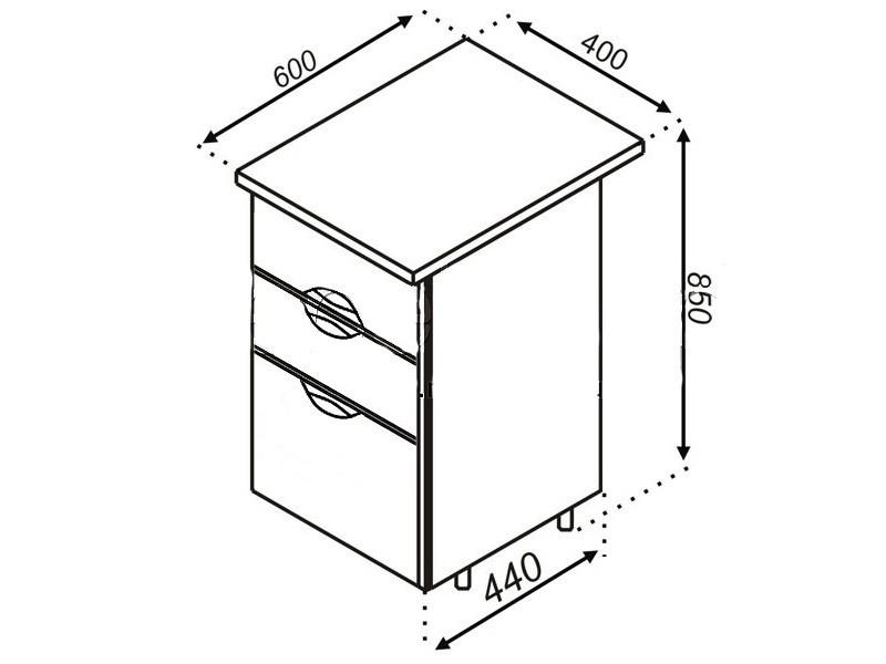 Кухонная секция Адель Люкс Н 40Ш