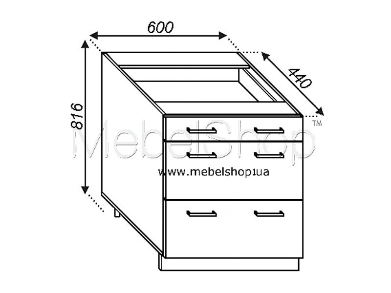 Кухонная секция Валенсия Н 60Ш