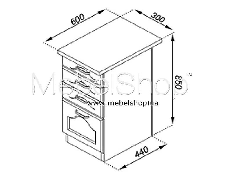 Кухонная секция Тюльпан Н 30Ш
