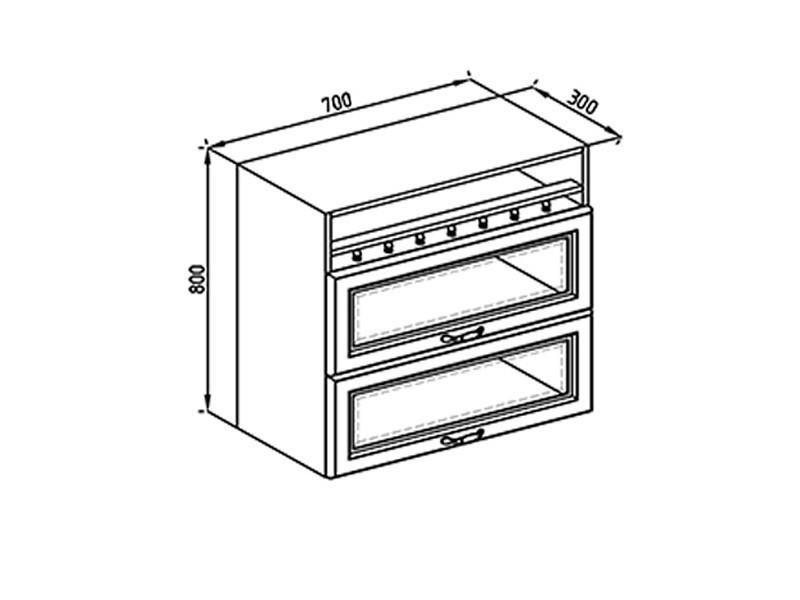 Кухонная секция Роксана В 70 БСк