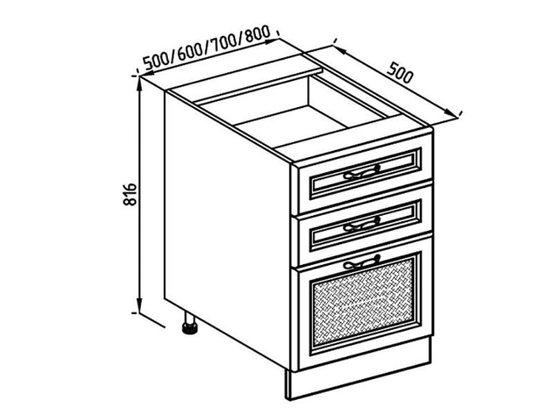 Кухонная секция Роксана Н 50Ш