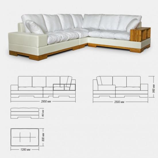 Угловой диван Нежное прикосновение Креаль