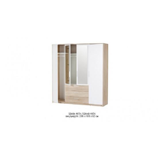 Шкаф 4Д3Ш с зеркалом Рико Холдинг