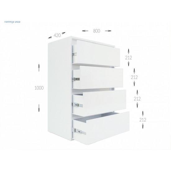 Комод Гарант Идея 4Ш (800)