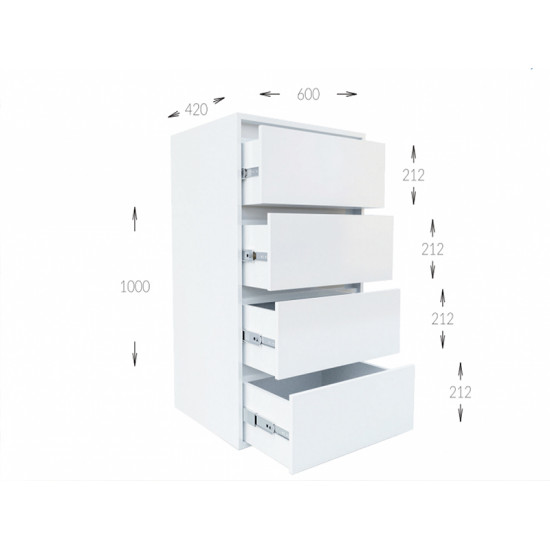 Комод Гарант Идея 4Ш (600)