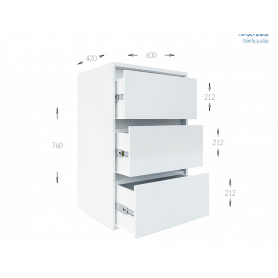 Комод Гарант Идея 3Ш (600)