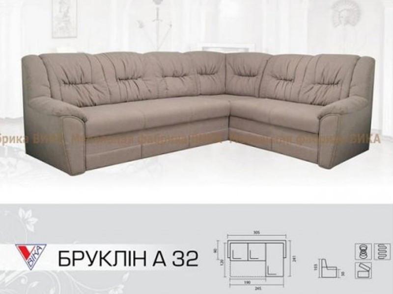 """Угловой диван Vika """"Бруклин А"""" 3-2"""