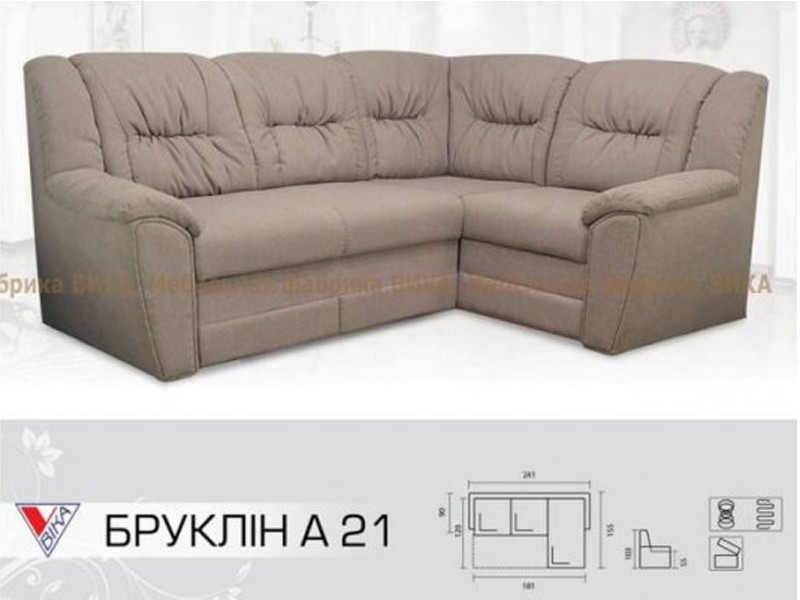 """Угловой диван Vika """"Бруклин"""" А-21"""
