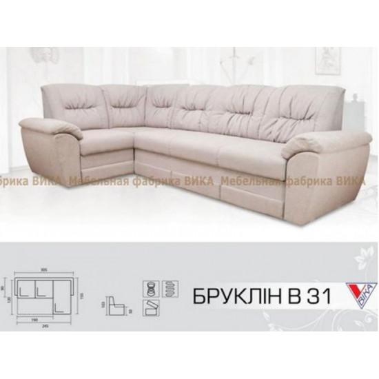 """Угловой диван Vika """"Бруклин"""" В-31"""
