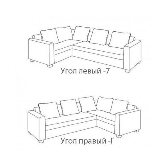 """Угловой диван Vika """"Бруклин"""" В-21"""