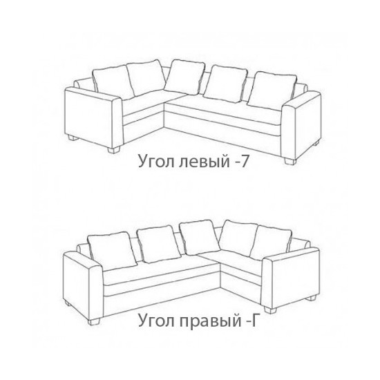 "Угловой диван Vika ""Редфорд"" 32"